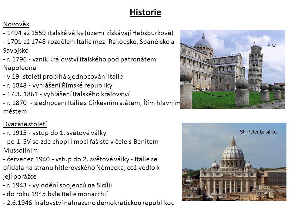 Prezident: - volen parlamentem a krajskými sbory na společném zasedání - volen na 7 let - Giorgio Napolitano (od 10.