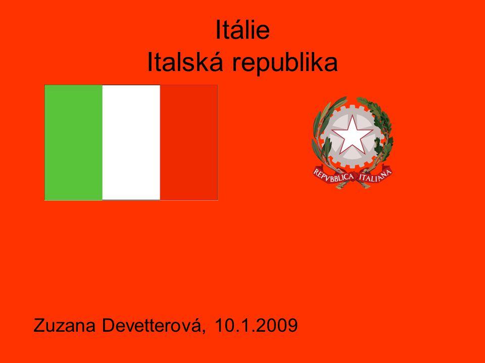 Základní údaje Hlavní město: Řím (2,8 mil.2006) Počet obyvatel: 58 133 509 (23.