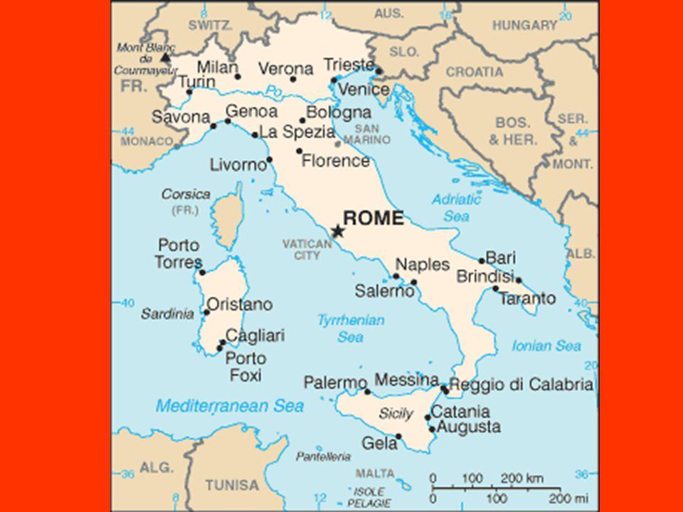Přírodní poměry Středomořský stát v jižní Evropě Alpy: Mount Blanc 4748 m.