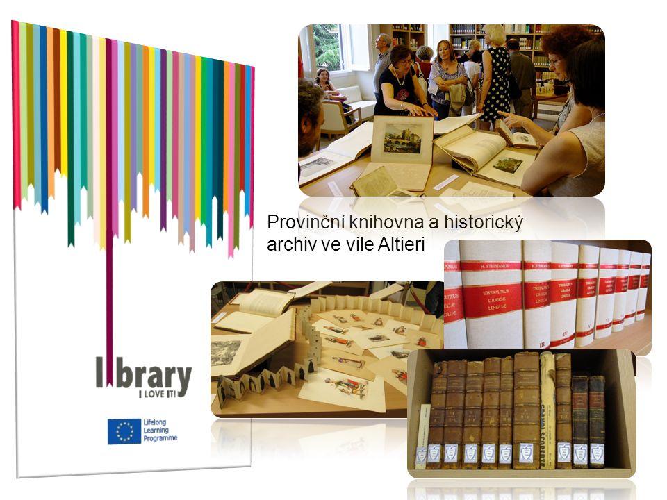 Provinční knihovna a historický archiv ve vile Altieri
