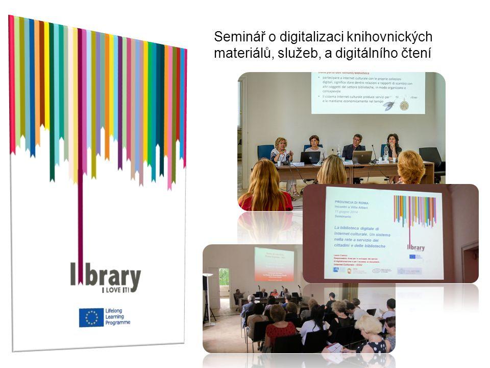 Seminář o digitalizaci knihovnických materiálů, služeb, a digitálního čtení