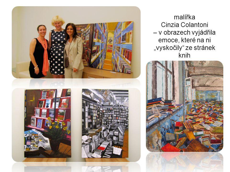 """malířka Cinzia Colantoni – v obrazech vyjádřila emoce, které na ni """"vyskočily"""" ze stránek knih"""