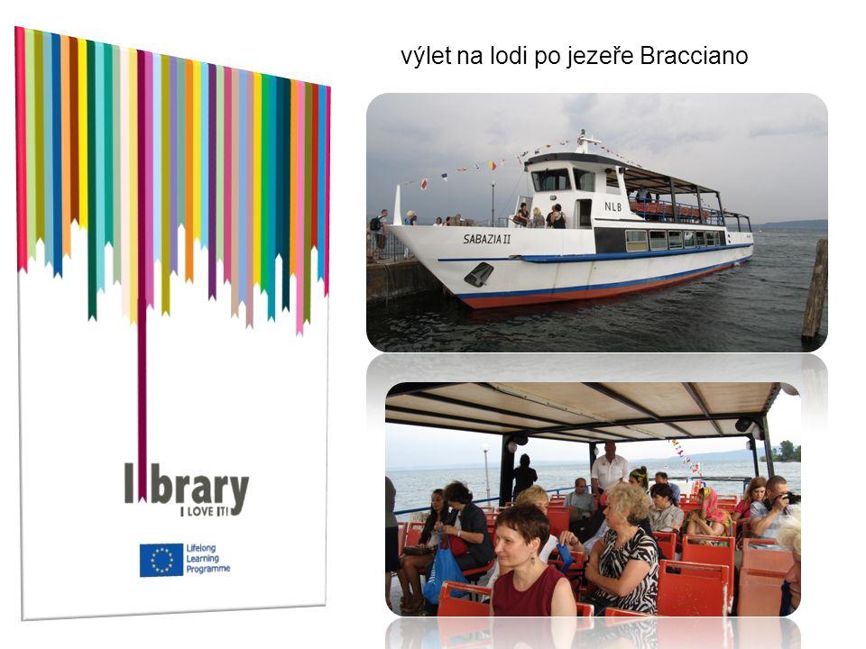 výlet na lodi po jezeře Bracciano