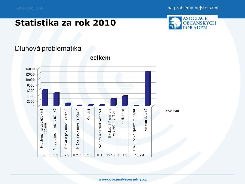Statistika za rok 2010 Dluhová problematika