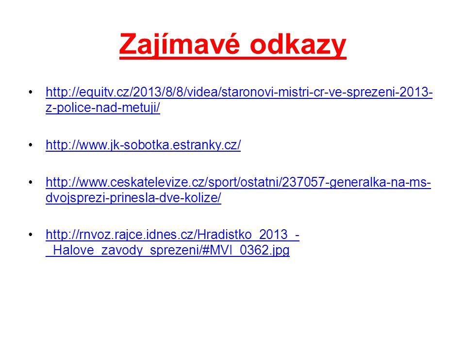 Zajímavé odkazy http://equitv.cz/2013/8/8/videa/staronovi-mistri-cr-ve-sprezeni-2013- z-police-nad-metuji/http://equitv.cz/2013/8/8/videa/staronovi-mi