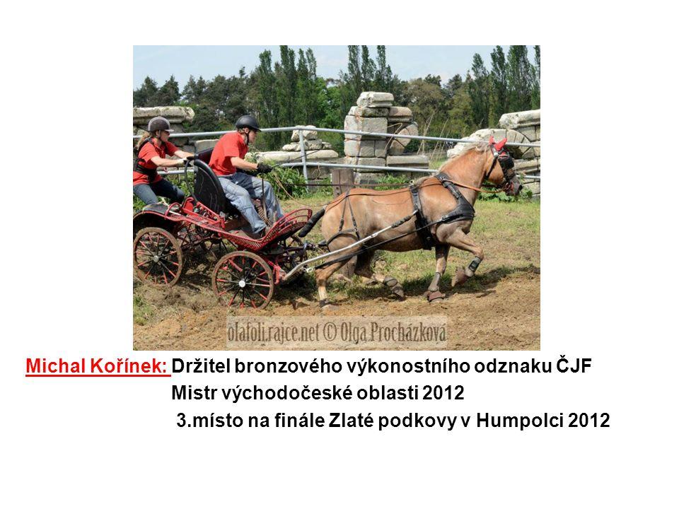 Pavel Matouš: 2.místo na MČR Kladruby nad Labem 2009 4.místo Halové závody spřežení Hraďišťko 2012