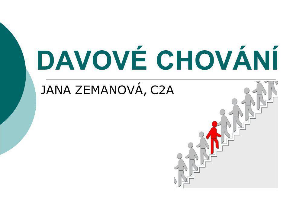 DAVOVÉ CHOVÁNÍ JANA ZEMANOVÁ, C2A