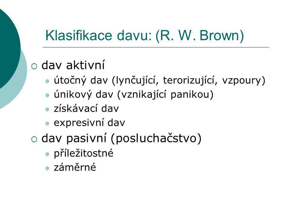 Klasifikace davu: (R.W.