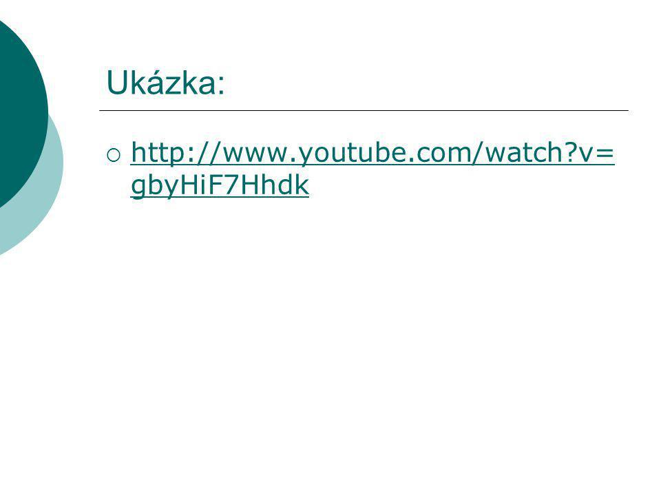 Ukázka:  http://www.youtube.com/watch?v= gbyHiF7Hhdk http://www.youtube.com/watch?v= gbyHiF7Hhdk