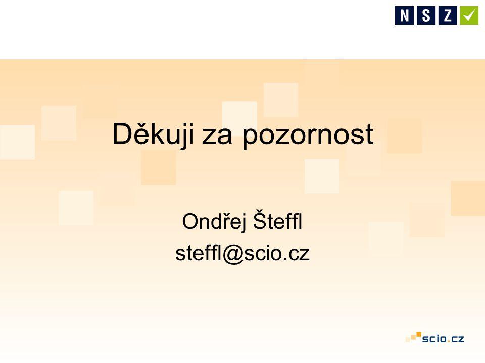 Ondřej Šteffl steffl@scio.cz Děkuji za pozornost