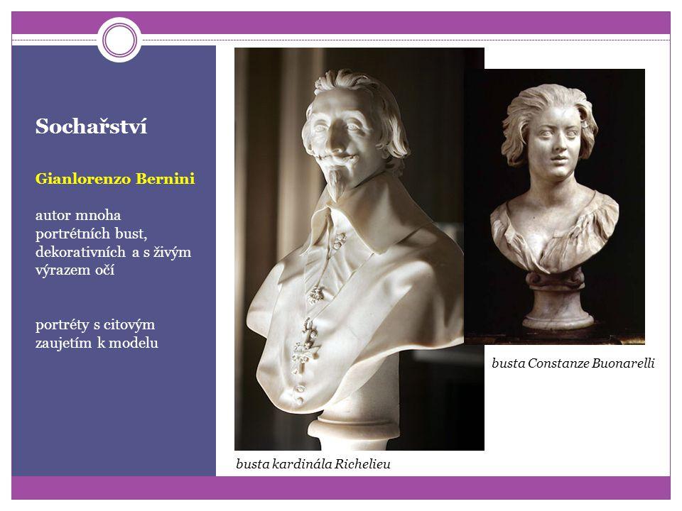 Sochařství Gianlorenzo Bernini propojoval v díle umění sochařské a architektury kroucené (tordované) sloupy, základ pozdějšího zdobení oltářů i nábytk