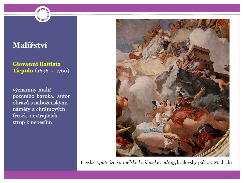 Malířství Andrea Pozzo (1596 - 1669) malíř a architekt, známý grandiózními chrámovými freskami Nástropní freska Apoteóza sv. Ignácia v chrámu St. Igna