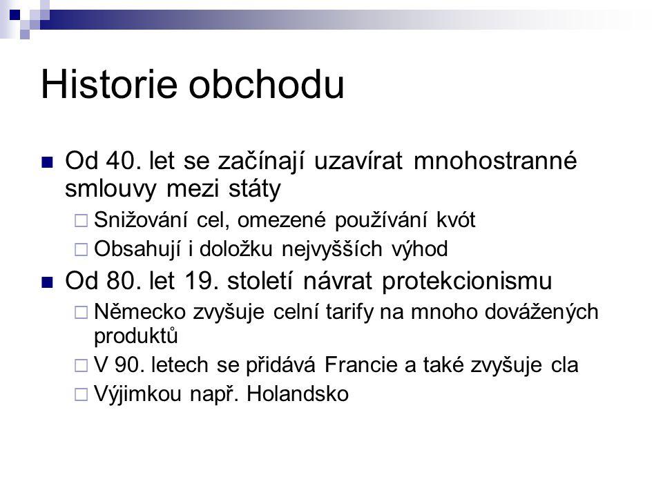 Historie obchodu Od 40.
