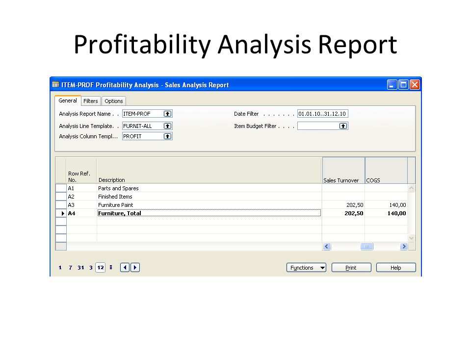 Profitability Analysis Report