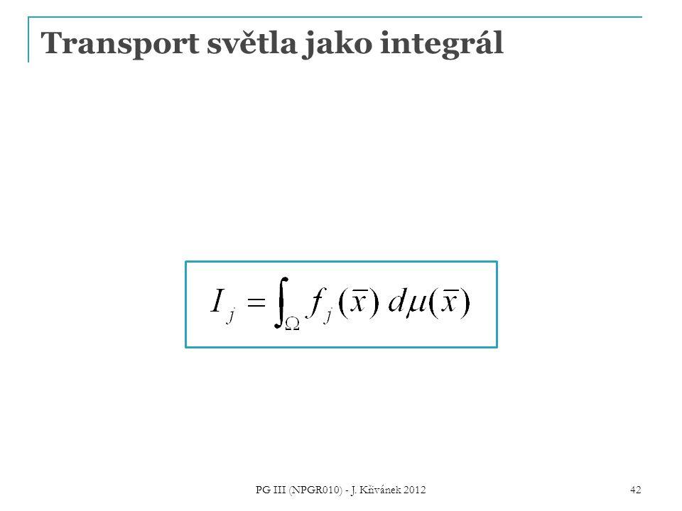 Transport světla jako integrál PG III (NPGR010) - J. Křivánek 2012 42
