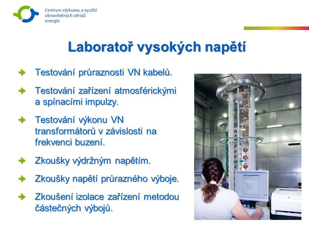 Laboratoř vysokých napětí Testování průraznosti VN kabelů.