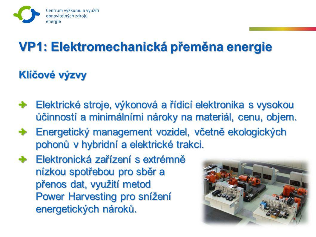Klíčové výzvy Elektrické stroje, výkonová a řídicí elektronika s vysokou účinností a minimálními nároky na materiál, cenu, objem.