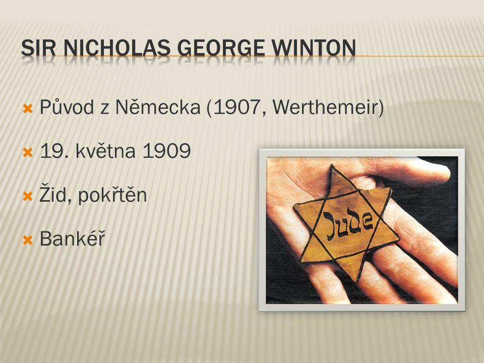 Původ z Německa (1907, Werthemeir)  19. května 1909  Žid, pokřtěn  Bankéř