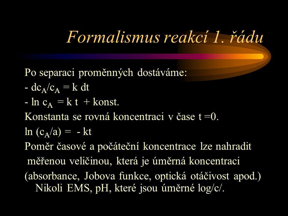 Formalismus reakcí 1.