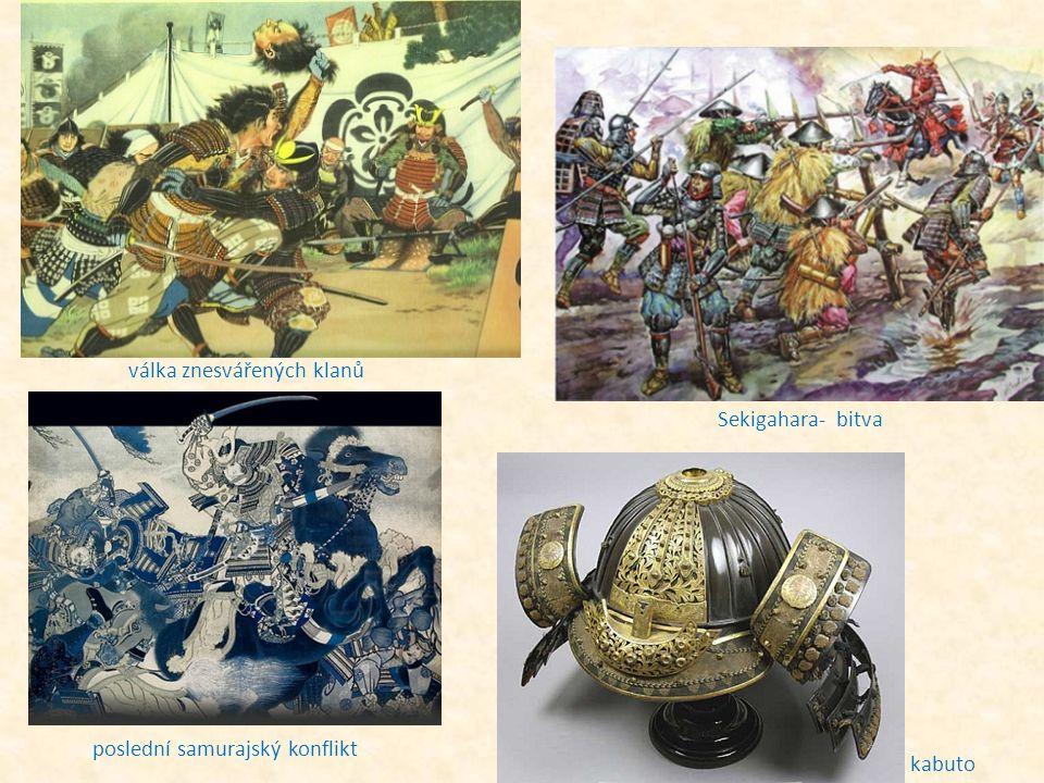válka znesvářených klanů Sekigahara- bitva kabuto poslední samurajský konflikt