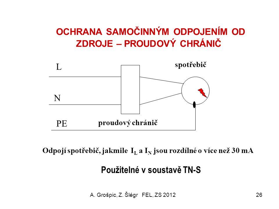 ČSN 33 2140 - POŽADAVEK P4 proudové chrániče Účel: doplňková ochrana k ochraně základní (P0) pro přístroje s příkonem nad 5 kVA a pro všechny rentgeny