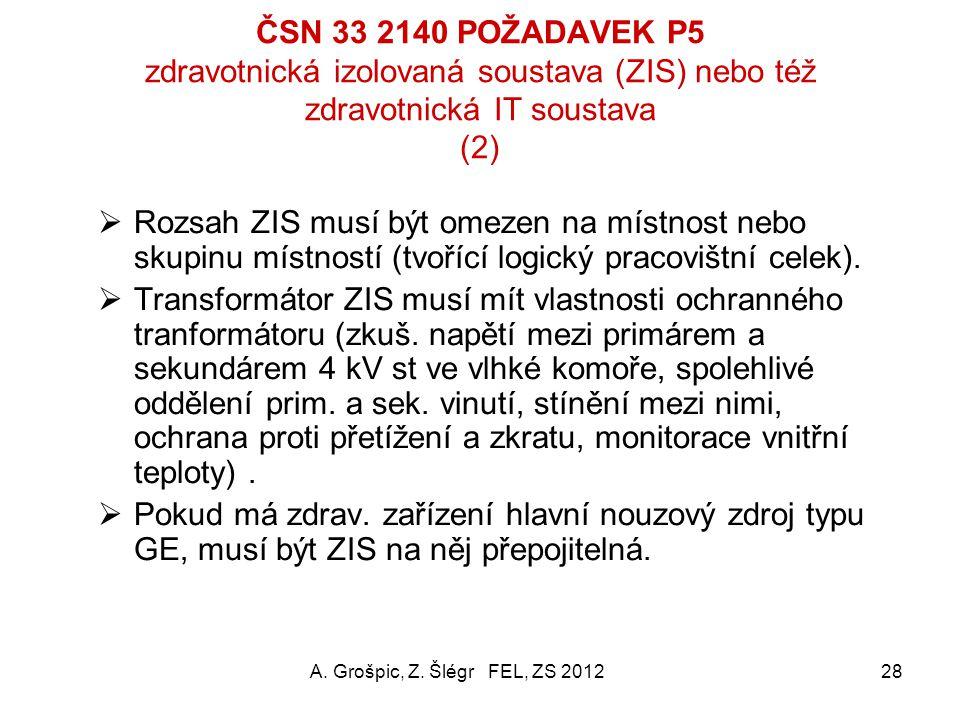 """ČSN 33 2140 POŽADAVEK P5 zdravotnická izolovaná soustava (ZIS) nebo též zdravotnická IT soustava (1) Účel: Tato soustava vůči zemi """"plovoucí"""" umožní t"""