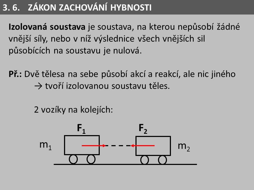 Izolovaná soustava je soustava, na kterou nepůsobí žádné vnější síly, nebo v níž výslednice všech vnějších sil působících na soustavu je nulová. Př.: