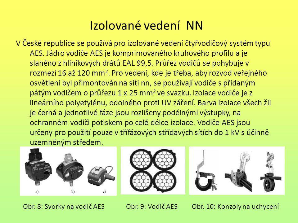 Izolované vedení NN V České republice se používá pro izolované vedení čtyřvodičový systém typu AES. Jádro vodiče AES je komprimovaného kruhového profi