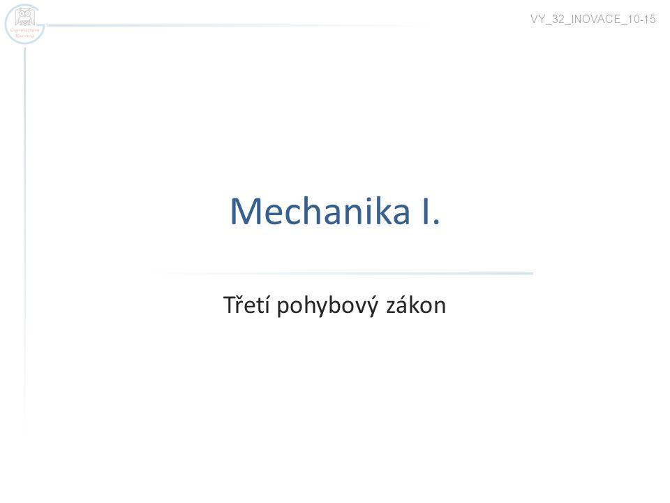 Mechanika I. Třetí pohybový zákon VY_32_INOVACE_10-15