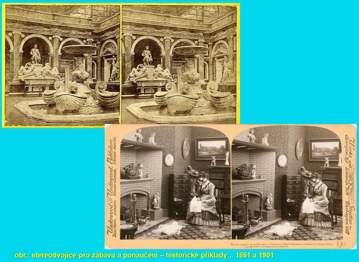 obr.: stereodvojice FM – pozemní (neměřické snímky) a letecká (měřické snímky)
