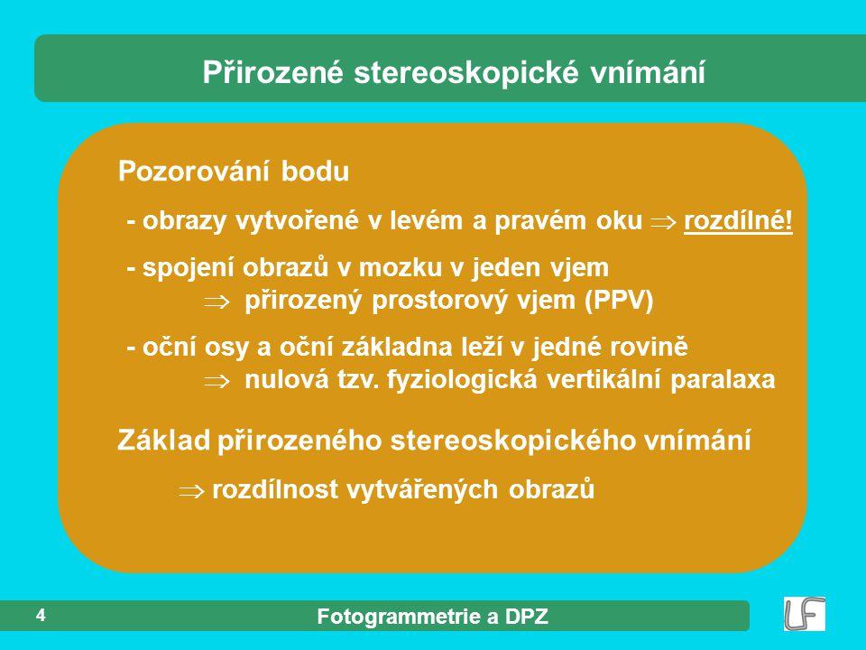 Fotogrammetrie a DPZ 15 Obecné (např.