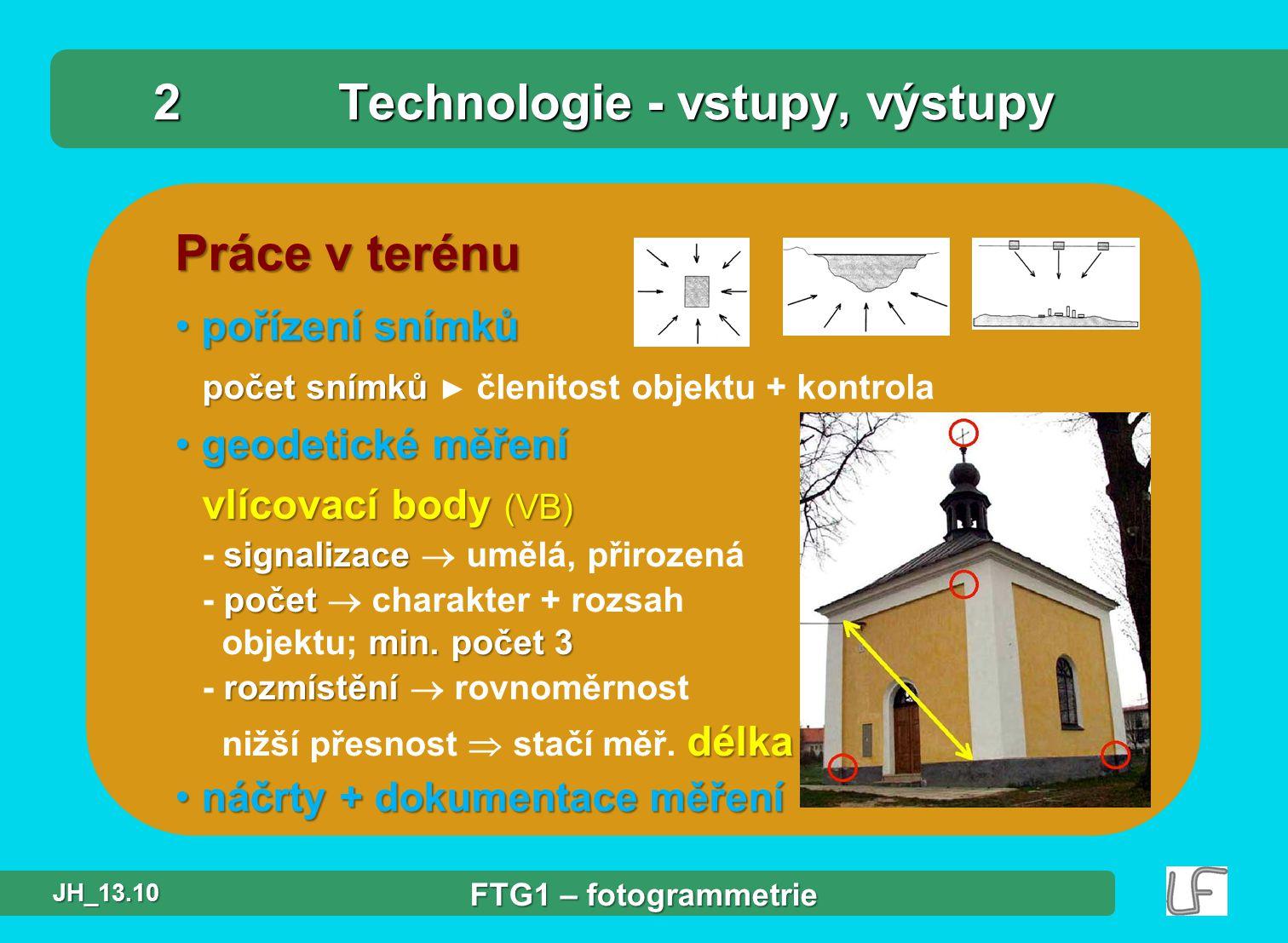 obr.: SW PhotoModeler - technologie zpracování