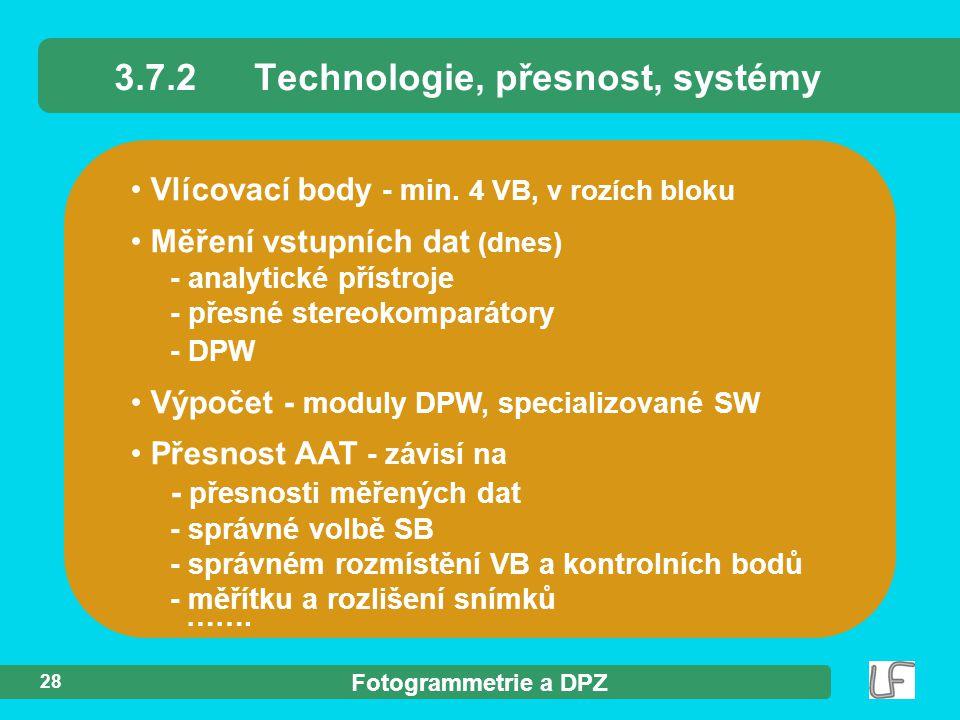Fotogrammetrie a DPZ 28 Vlícovací body - min.