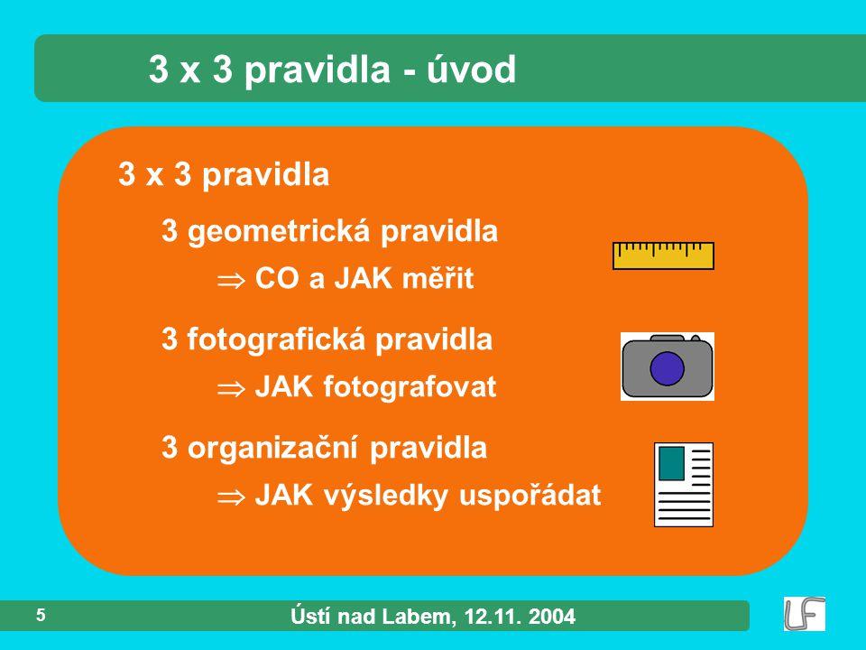 Ústí nad Labem, 12.11.2004 6 CO a JAK měřit ?.