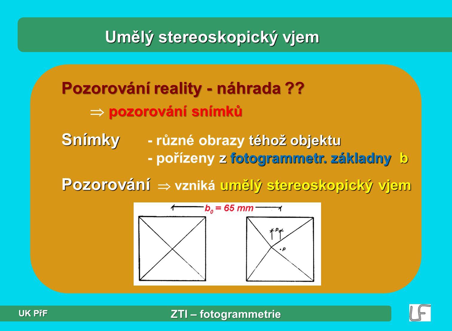 obr.: stereodvojice – pozemní (neměřické sn.) a letecká (měřické sn.)