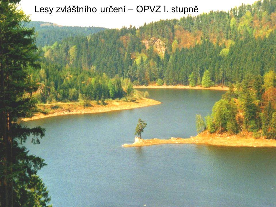 Lesy zvláštního určení – OPVZ I. stupně