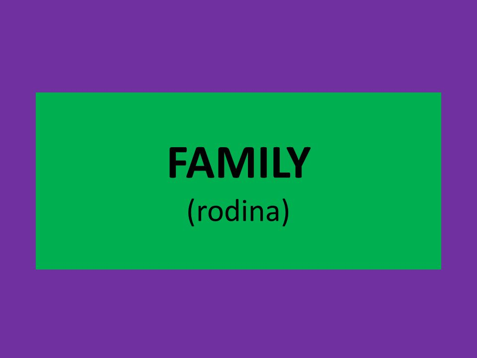 FAMILY (repeat the words) mother / mum father / dad brother sister grandmother grandfather aunt uncle cousin
