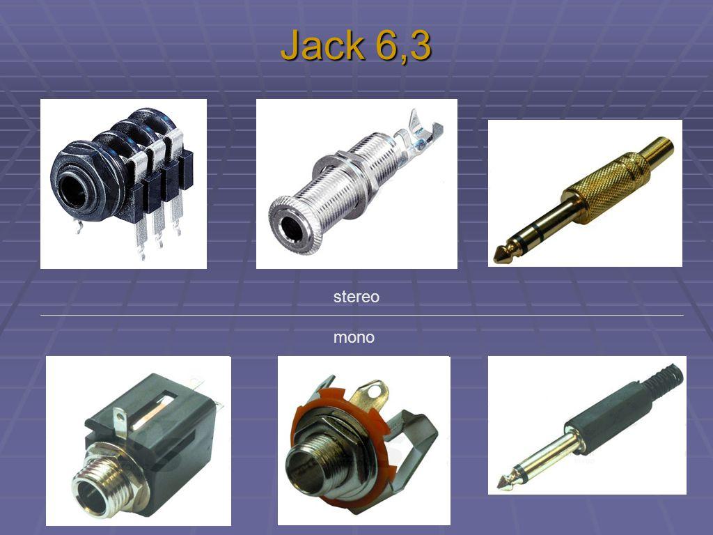 Jack 6,3 stereo mono