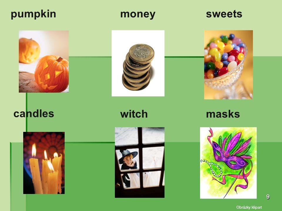 pumpkin candles witchmasks sweetsmoney 9 Obrázky:klipart