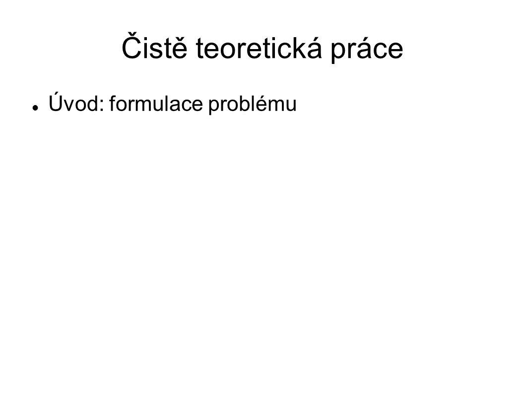 Úvod: formulace problému
