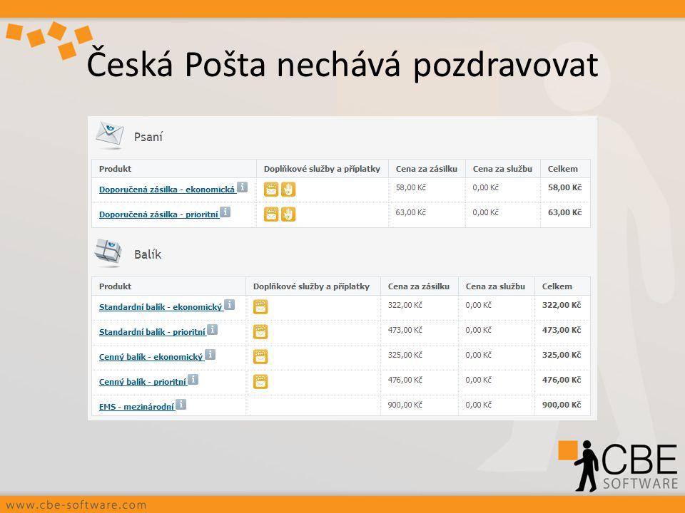 Česká Pošta nechává pozdravovat