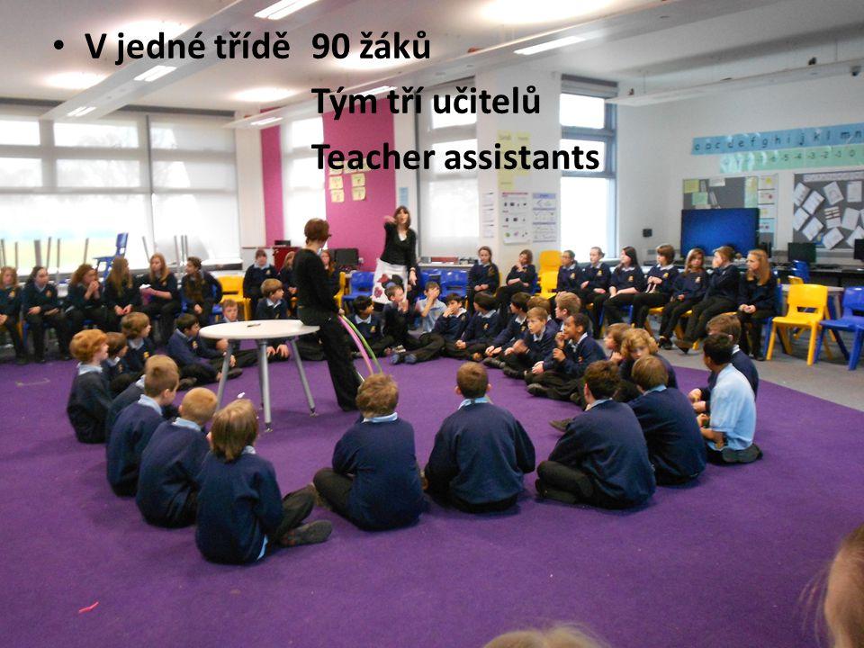 V jedné třídě 90 žáků Tým tří učitelů Teacher assistants