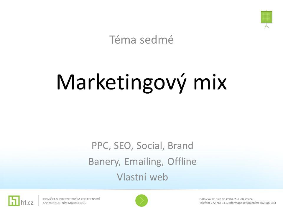 Marketingový mix Téma sedmé PPC, SEO, Social, Brand Banery, Emailing, Offline Vlastní web