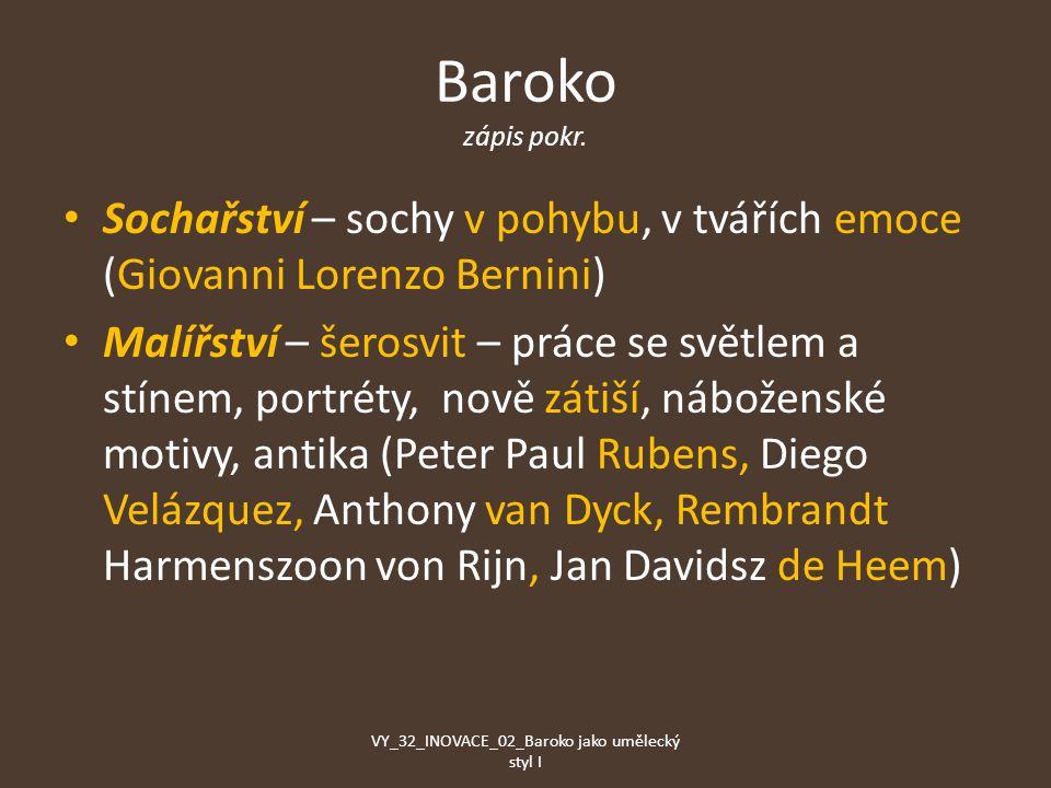 Baroko zápis pokr.