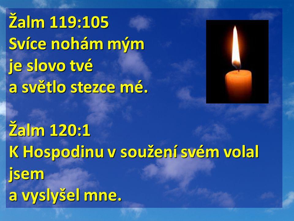 Žalm 119:105 Svíce nohám mým je slovo tvé a světlo stezce mé.
