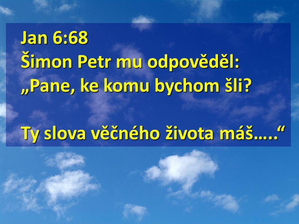Jan 5: 39-40 Jan 5: 39-40 Zkoumáte Písma, protože se domníváte, že v nich máte věčný život, a právě ta svědčí o mně.