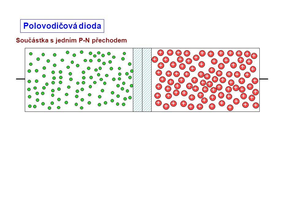 Součástka s jedním P-N přechodem Polovodičová dioda