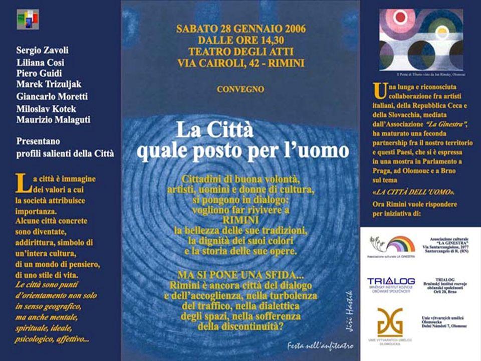 """Pozvánka na mezinárodní konferenci """"Město jako místo pro člověka"""" Rimini, leden 2006 """" M Ě S T O J A K O M Í S T O P R O Č L O V Ě K A II. a III. """" Vý"""
