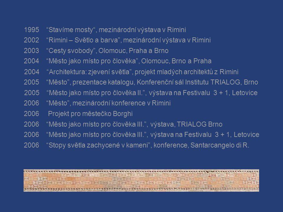 M Ě S T O J A K O M Í S T O P R O Č L O V Ě K A TRIALOG – brněnský institut rozvoje občanské společnosti Unie výtvarných umělců Olomoucka Kulturní sdr
