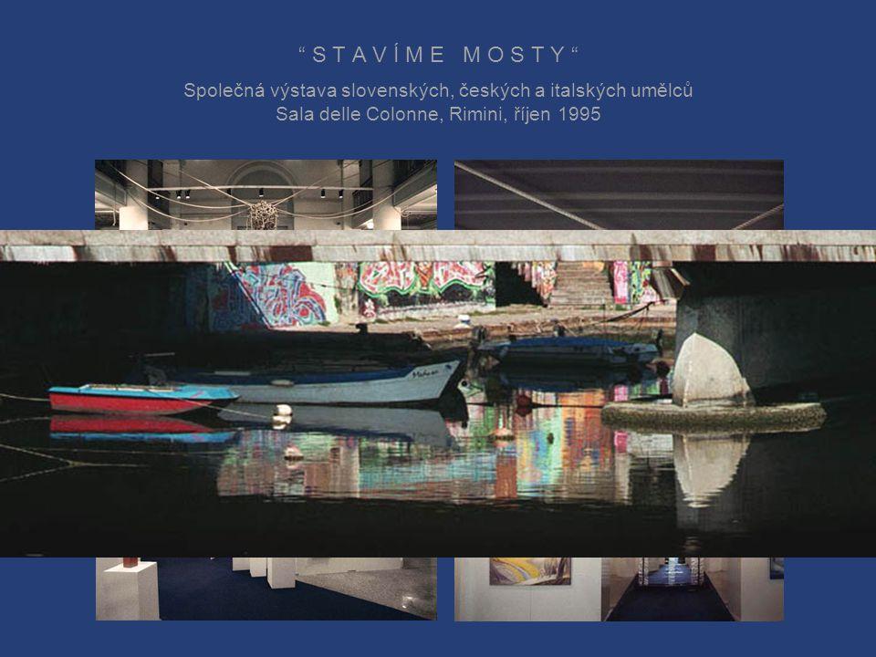 """1995 """"Stavíme mosty"""", mezinárodní výstava v Rimini 2002 """"Rimini – Světlo a barva"""", mezinárodní výstava v Rimini 2003 """"Cesty svobody"""", Olomouc, Praha a"""